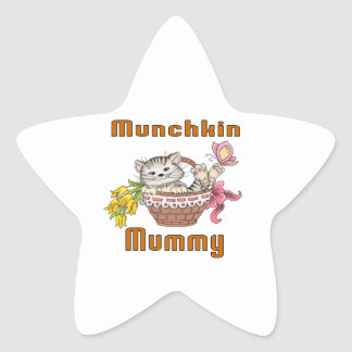 Munchkin Cat Mom Star Sticker