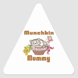 Munchkin Cat Mom Triangle Sticker