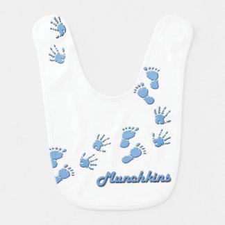 Munchkin's hand & footprints bib for baby boys