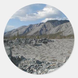 Muncho Lake, Yukon, Canada Classic Round Sticker