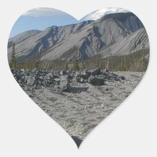 Muncho Lake, Yukon, Canada Heart Sticker
