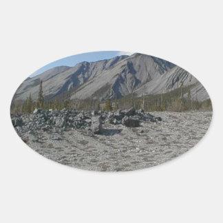 Muncho Lake, Yukon, Canada Oval Sticker