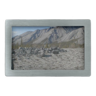 Muncho Lake, Yukon, Canada Rectangular Belt Buckles