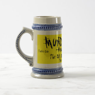 MUNDER THUG-Amber/Logger-The O'L ONE, TWO PUNCH Beer Stein