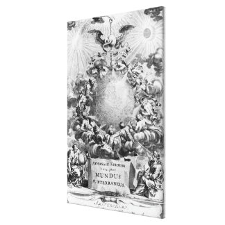 Mundus Subterraneus' by Athanasius Kircher Canvas Print