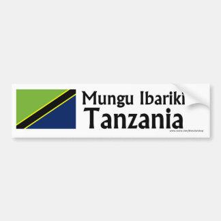Mungu Ibariki (Dieu bénissent) Tanzanie avec le dr Autocollant De Voiture