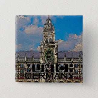 Munich 2 Inch Square Button