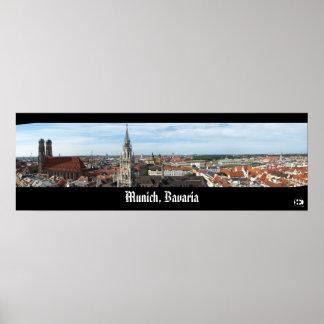 Munich, Bavaria Panorama Poster