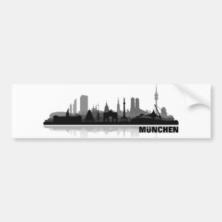 Munich city of skyline - autostickers bumper sticker