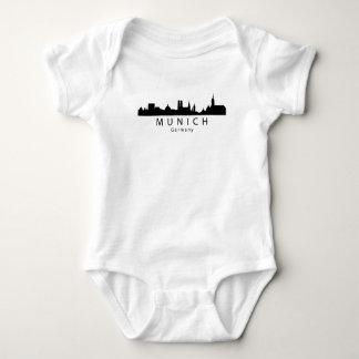 Munich Germany Skyline Baby Bodysuit