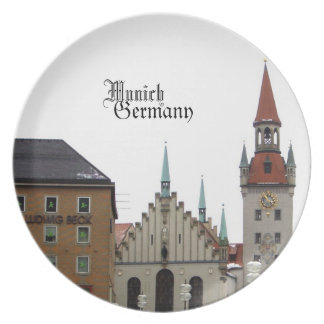 Munich Germany Travel Souvenir Dinner Plate