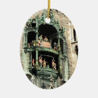 munich neues rathaus glockenspiel ceramic oval ornament