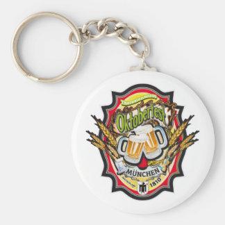 Munich Oktoberfest Edition Basic Round Button Keychain