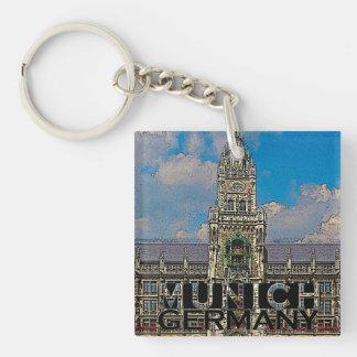 Munich Single-Sided Square Acrylic Keychain