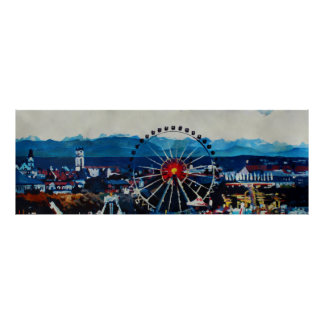 Munich skyline Panorama Poster