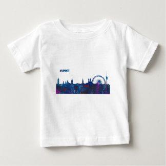 Munich Skyline Silhouette Baby T-Shirt