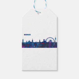 Munich Skyline Silhouette Gift Tags