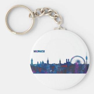 Munich Skyline Silhouette Keychain