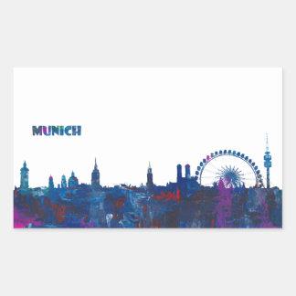 Munich Skyline Silhouette Sticker