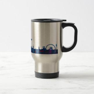 Munich Skyline Silhouette Travel Mug