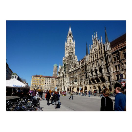 Munich Square (Marienplatz) Postcard