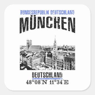 Munich Square Sticker