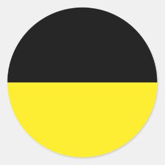 Munich(Striped), Germany Classic Round Sticker