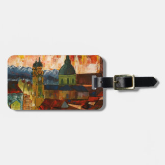 Munich With Alps Panorama Luggage Tag