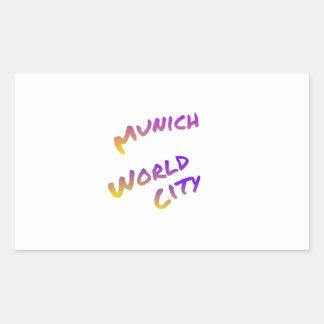 Munich world city, colorful text art