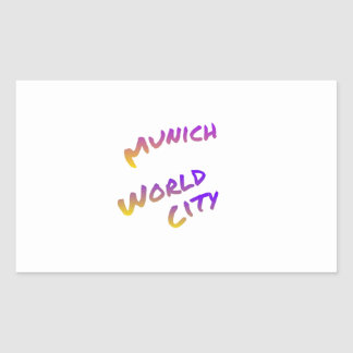 Munich world city, colorful text art sticker