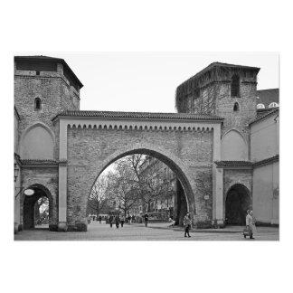 Munich. Zendlın Gate Photo Print