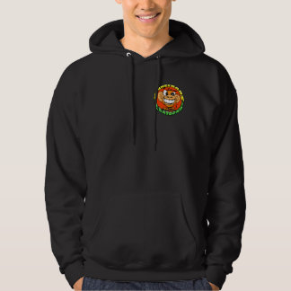 Munkee Bars Cartoons Black Hoodie