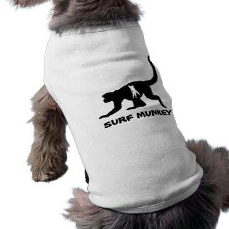 Munkey avec la conception de tatouage de Shortboar Tee-shirts Pour Animaux Domestiques