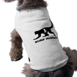 Munkey with Shortboarder Tattoo design Doggie T Shirt