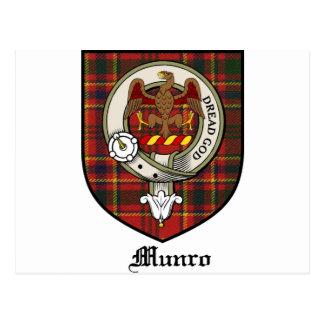 Munro Clan Crest Badge Tartan Postcard