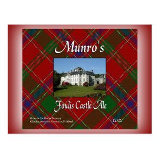 Munro's Foulis Castle Ale Postcard