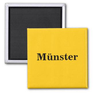 Münster magnet sign gold Gleb