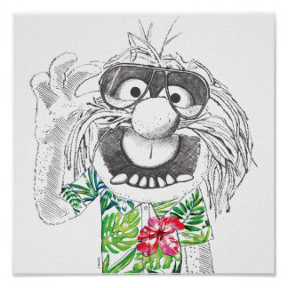 Muppets | Animal In A Hawaiian Shirt 4 Poster