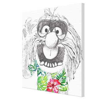 Muppets   Animal In A Hawaiian Shirt 6 Canvas Print