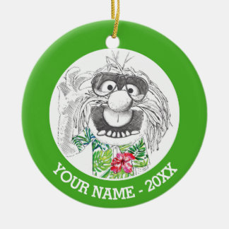 Muppets | Animal In A Hawaiian Shirt Add Your Name Round Ceramic Ornament