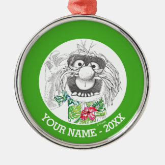 Muppets | Animal In A Hawaiian Shirt Add Your Name Silver-Colored Round Ornament