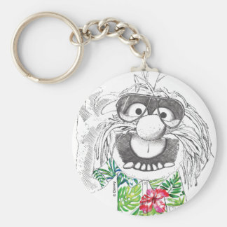 Muppets | Animal In A Hawaiian Shirt Basic Round Button Keychain