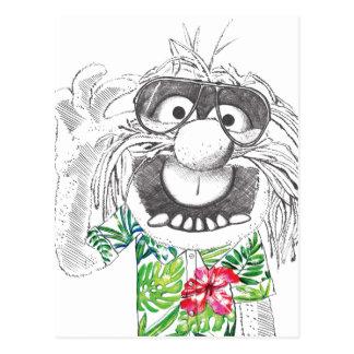Muppets   Animal In A Hawaiian Shirt Postcard