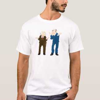 Muppets Sattler And Waldorf looking at each other T-Shirt