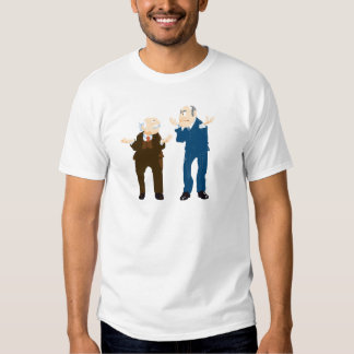 Muppets Sattler And Waldorf looking at each other T-shirts