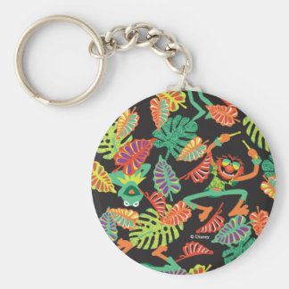 Muppets | Tropical Kermit & Animal Pattern Basic Round Button Keychain