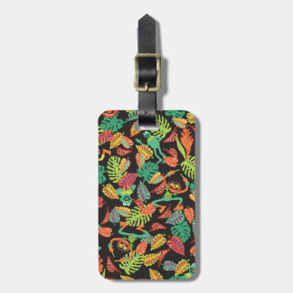 Muppets | Tropical Kermit & Animal Pattern Luggage Tag