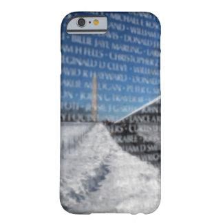 Mur commémoratif du Vietnam pendant l'hiver Coque iPhone 6 Barely There