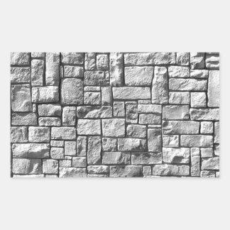 Mur en pierre sticker rectangulaire
