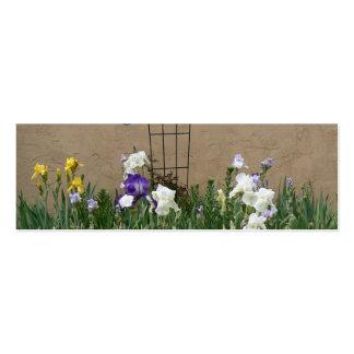 Mur-Signet de jardin d'iris Modèle De Carte De Visite